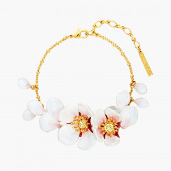 Pulsera Fina Flores Blancas...