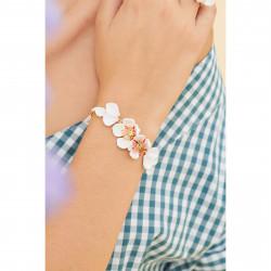 Bracelets Fins Bracelet fin fleurs blanches du japon et pétales150,00€ ANHA209/1Les Néréides