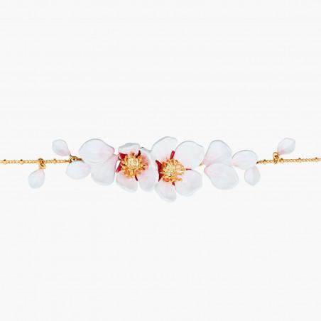 Collier couture multi cristaux et coraux dorés