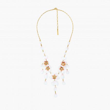 2 pearls golden semi-rigid bracelet