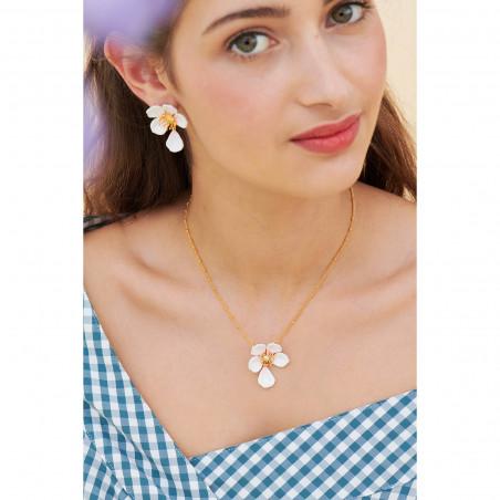 Bague ajustable deux perles