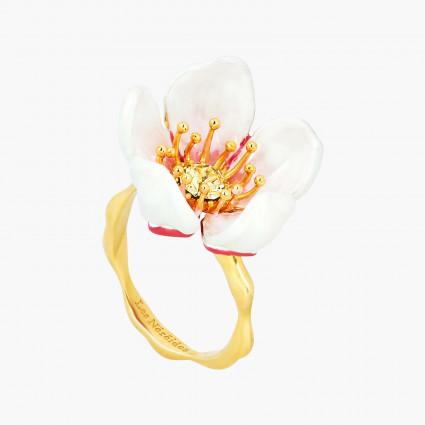 Bagues Ajustables Bague Ajustable Fleur Blanche Du Japon Et Pétale120,00€ ANHA606/1Les Néréides