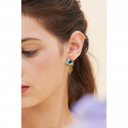 Boucles D'oreilles Clip Boucles d'oreilles clips pierre de verre facetté et ses fleurs pivoine et campanules110,00€ ANLA101C...