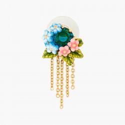 Boucles D'oreilles Pendantes Boucles d'oreilles tiges pierre de verre facetté et ses fleurs pivoine et campanules110,00€ ANL...