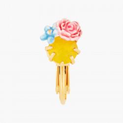 Boucles D'oreilles Clip Boucle d'oreille clip pivoine et pierre de verre facetté80,00€ ANLA102C/1Les Néréides