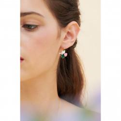 Boucles D'oreilles Clip Boucles d'oreilles clips colombe et pivoine sur pierre facettée95,00€ ANLA103C/1Les Néréides