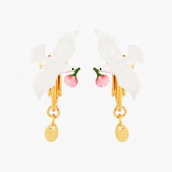 Boucles D'oreilles Clip Boucles d'oreilles clips colombe et pivoine70,00€ ANLA105C/1Les Néréides