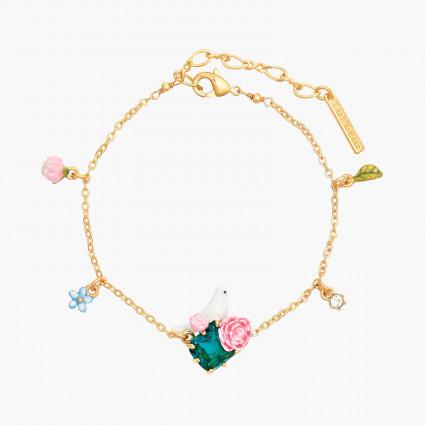 Bracelets Fins Bracelet fin colombe sur pierre facettée et pivoines120,00€ ANLA201/1Les Néréides