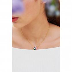 Colliers Pendentifs Collier fin colombe sur pierre de verre facetté et pivoine90,00€ ANLA302/1Les Néréides
