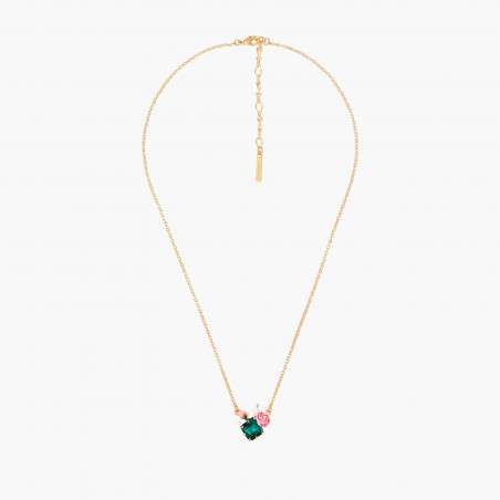 Collier 6 pierres blanc opale