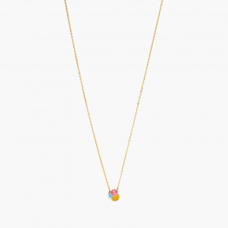Opal white round stone necklace