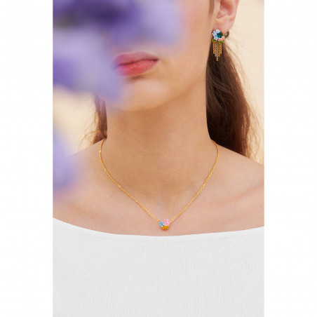 Opal white three rows luxurious necklace
