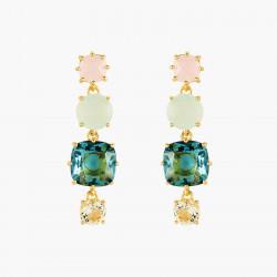 Boucles D'oreilles Pendantes Boucles d'oreilles tiges 4 pierres la diamantine acqua azzura80,00€ ANLD120T/1Les Néréides