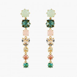 Boucles D'oreilles Pendantes Boucles d'oreilles tiges 7 pierres la diamantine acqua azzura130,00€ ANLD121T/1Les Néréides