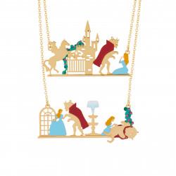 Colliers Collier Double Rangs Illustrant Les Scènes Phares De La Belle Et La Bête