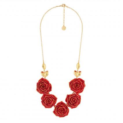 Colliers Collier Plastron Mutli Roses Rouges130,00€ AIBE317/1N2 by Les Néréides