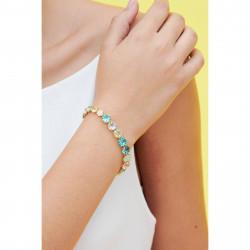 Bracelets Fins Bracelet luxe un rang la diamantine acqua azzura130,00€ ANLD252/1Les Néréides