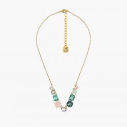 Colliers Fins Collier fin 9 pierres la diamantine acqua azzura120,00€ ANLD318/1Les Néréides