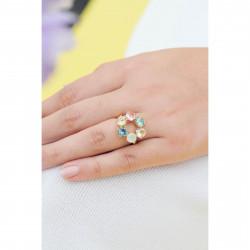 Bagues Fines Bague fine 6 pierres la diamantine acqua azzura70,00€ ANLD619/1Les Néréides