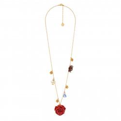 Colliers Sautoir Rose Rouge Et Pampilles La Belle, La Bête Et Chandelier85,00€ AIBE322/1N2 by Les Néréides