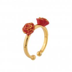 Bagues Bague 2 Anneaux Ajustables La Belle Et Roses Rouges45,00€ AIBE601/1N2 by Les Néréides