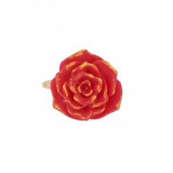 Bagues Bague Ajustable Rose Rouge