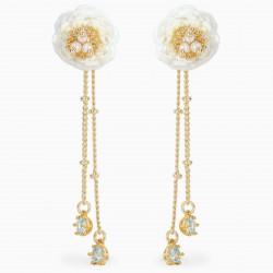 Camellia post earrings