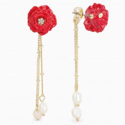 Boucles D'oreilles Pendantes Boucles d'Oreilles Tiges Rose Rouge130,00€ AOLF102T/1Les Néréides