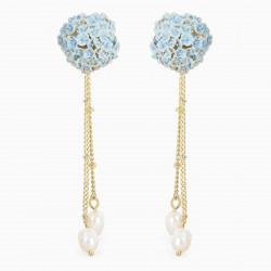 Hydrangea post earrings