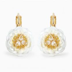 Camellia sleeper earrings
