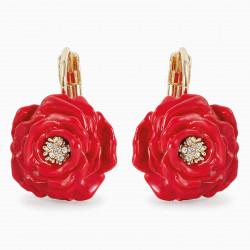 Red Rose sleeper earrings
