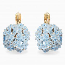 Hydrangea sleeper earrings