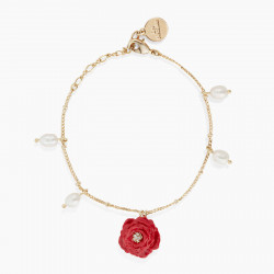 Red Rose thin bracelet