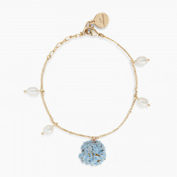 Hydrangea thin bracelet
