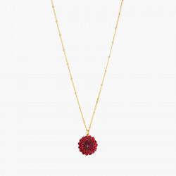 Black Dahlia pendant necklace