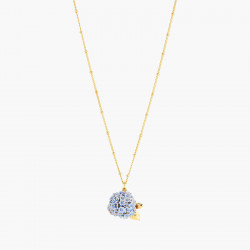 Hydrangea pendant necklace