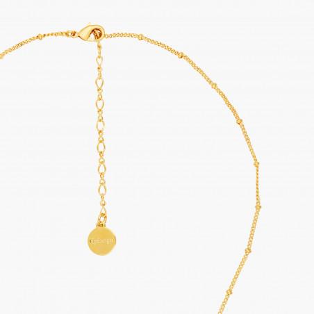 Bracelet perlé double chaînes canari sur verre taillé
