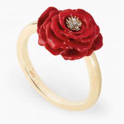 Anillo Ajustable Rosa Roja