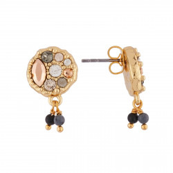 0a25c9295df1e Earrings Gold Nugget And Small Drops