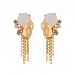 Earrings With Greek Statue...