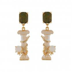 Earrings Greek Column And...
