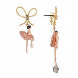 Boucles D'oreilles Pendantes Boucles D'oreilles Asymétriques Ballerine Or Rose