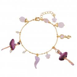 Bracelets Charms Bracelet Ballerine Prune Et Pampilles