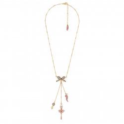 Collar Bailarina Oro Rosa Y...