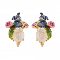 Clip-on Earrings With Bunny...