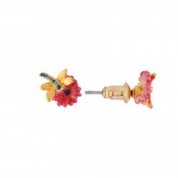 Boucles D'oreilles Tiges Boucles D'oreilles Petites Fleurs Roses Et Libellule45,00€ AIFM103T/1Les Néréides
