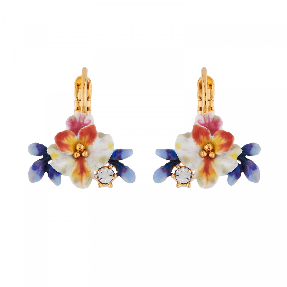 Sous le Châtaignier Earrings: Multi-flowers