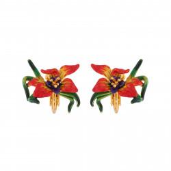 Pendientes Clip Flor Exótica