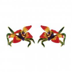 Boucles D'oreilles Tiges Boucles D'oreilles Fleur Exotique85,00€ AIFM108T/1Les Néréides
