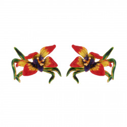 Earrings With Exotic Flower